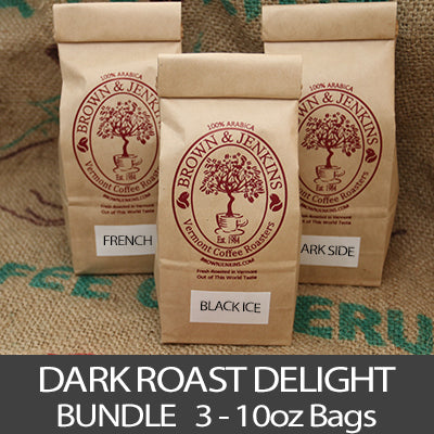 Dark Roast Delight Coffee Bundle - 3x10 oz
