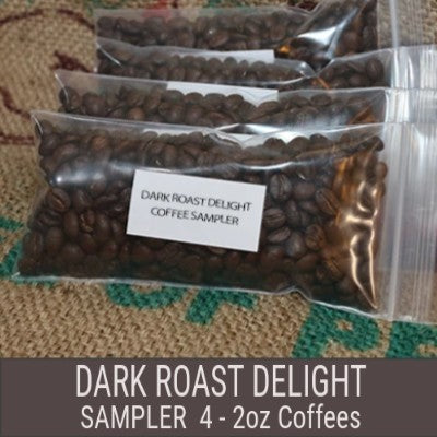 Dark Roast Delight Coffee Sampler - 4x2 oz