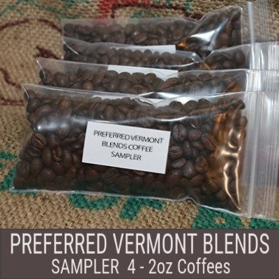 Preferred Vermont Coffee Blends Sampler - 4x2 oz