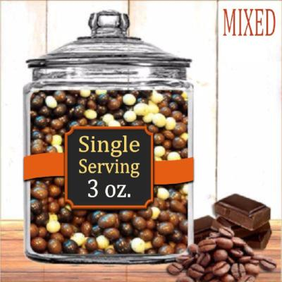 Mixed Chocolate Coffee Beans - Milk Chocolate, Dark Chocolate, White Chocolate - 3 oz - Brown & Jenkins Coffee Roasters of Vermont