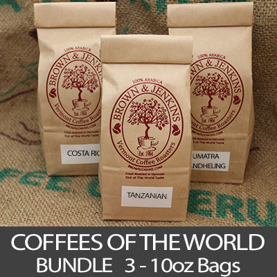Coffees Of The World Bundle - 3x10 oz