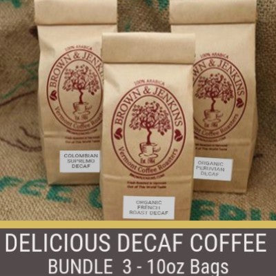 Delicious Decaf Coffee Bundle - 3x10 oz