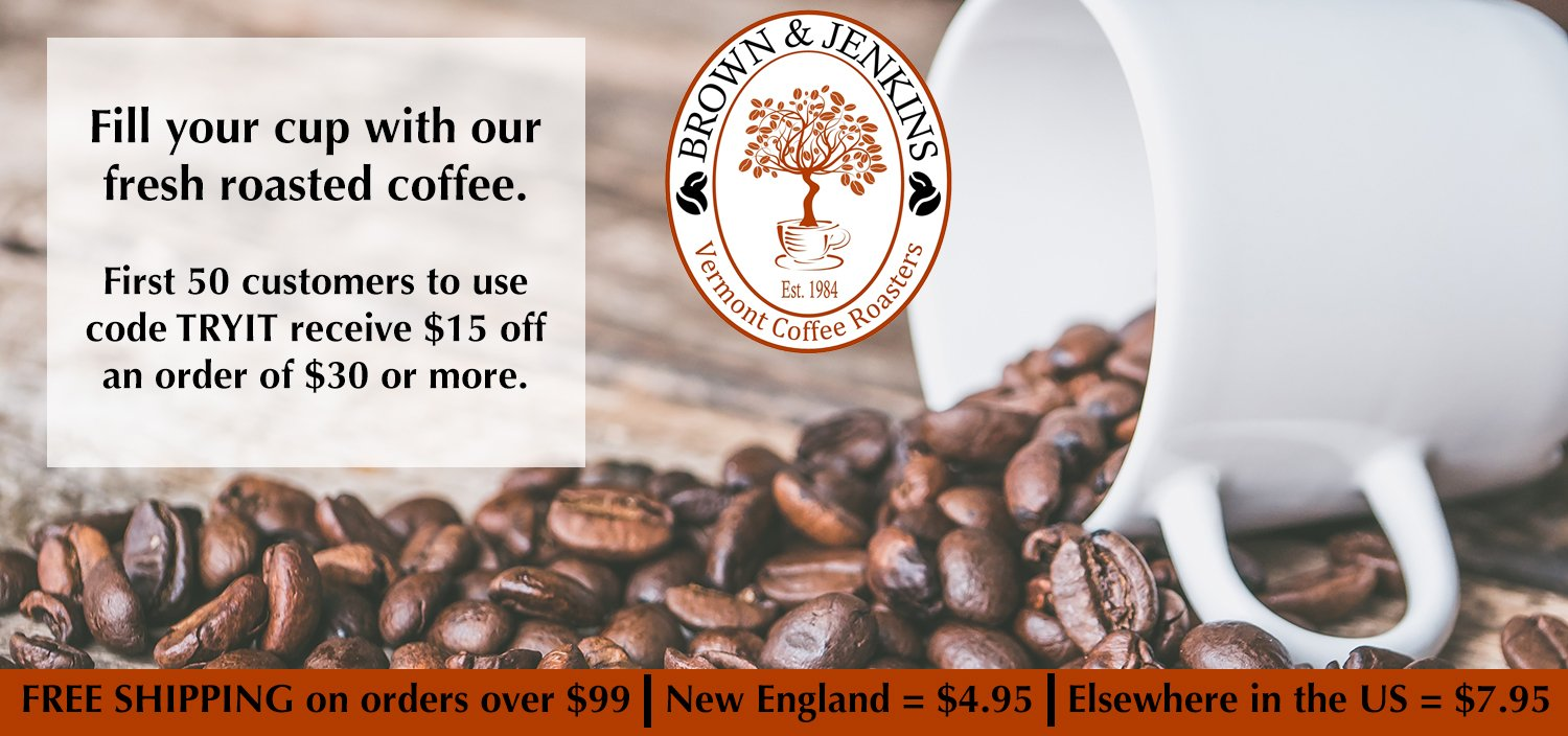 Brown & Jenkins Has a NEW LOOK – Same Fresh Roasted Arabica Coffee