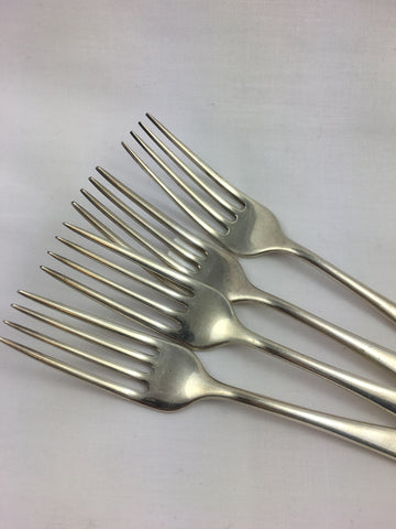 Silver Luncheon Fork Set
