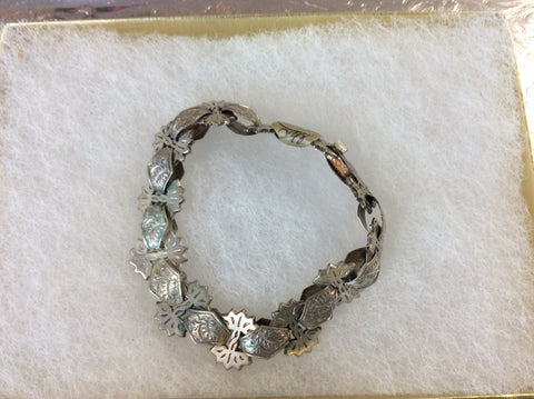 Sterling silver antique bracelet