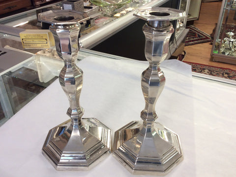 Sterling silver candle sticks 8.5 ""