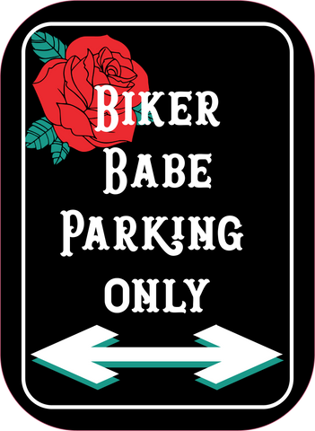 Biker Parking Only Pin, Sugarbush Babes