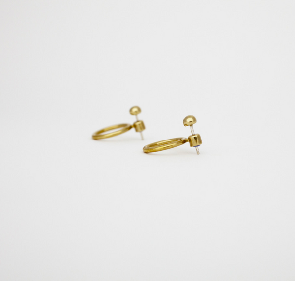 Marianne Earrings Silver/ Brass