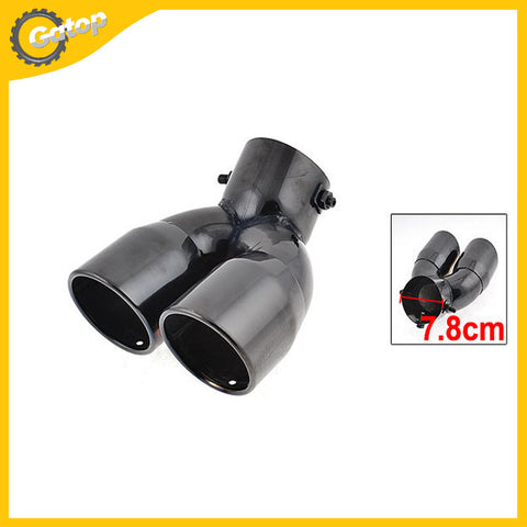 "3"" Inlet Cut Stainless Steel Exhaust Muffler Tip Black for Car - MLifeM6"