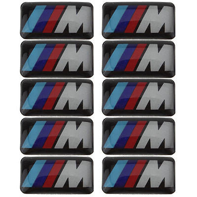 10PCS M Emblem Sticker Wheel Decal Fit for BMW X1 X2 X3 M1 M3 M5 M6(0.71*0.39inch) - MLifeM6