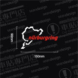 3D Reflective Car Stickers Decal Auto NURBURGRING - MLifeM6 - 5