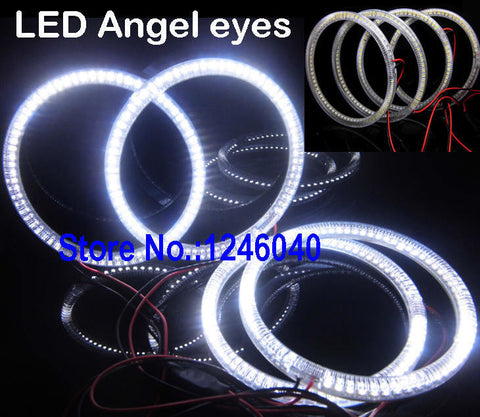 4x120mm ring SMD LED Angel eyes kit halo ring for E30 E32 E34 BMW top quality white high brightness - MLifeM6