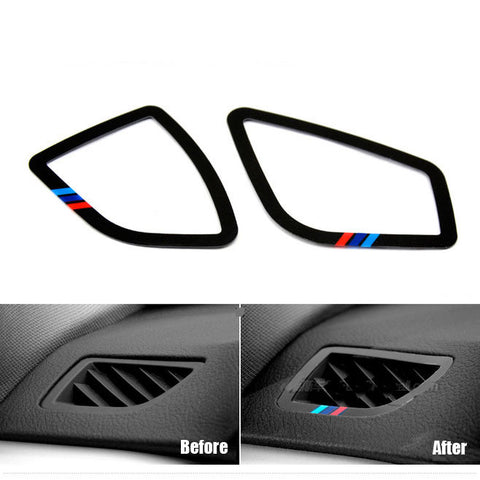 2pcs ABS car air condition decoration sticker for 2013-2015 BMW 3 Sereis F30 F35 316i 320i 325i 335i - MLifeM6