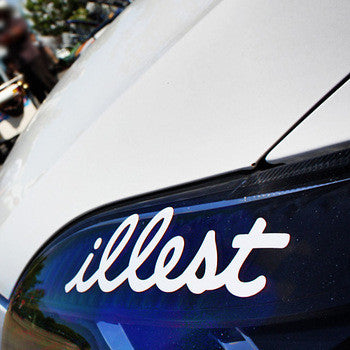 illest 20cm x 5.5cm car reflective waterproof stickers - MLifeM6