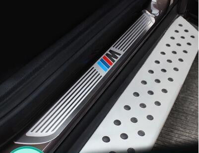 ///M Stainless Steel Door Sill Scuff Plate Car Accessories - MLifeM6 - 1