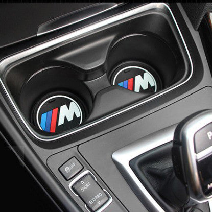 2 pieces Car Interior Non-Slip Mat Silicone Cup Coaster Anti-slip Mat - MLifeM6 - 1