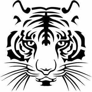 Tiger face head 13cm x 13cm car decals vinyl waterproof outdoor stickers - MLifeM6