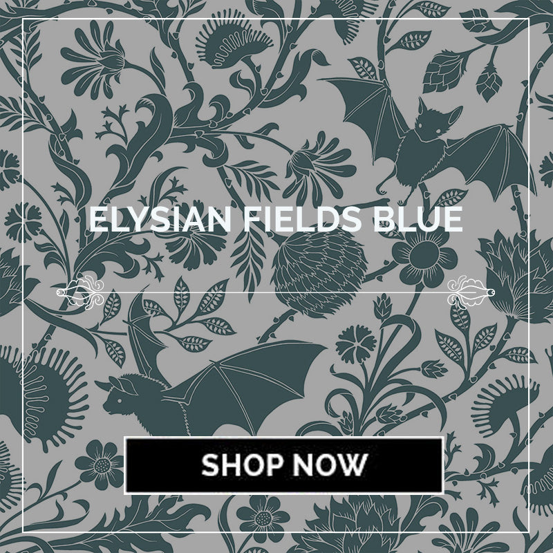 Elysian Fields Bats Botanical Bedding and Decor