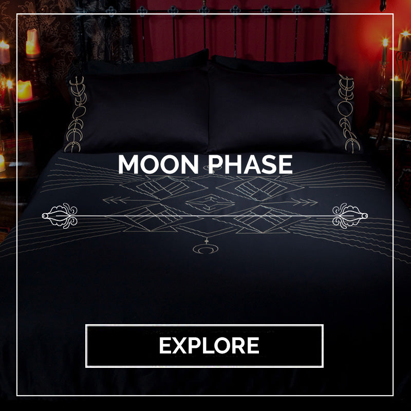 Moon Phase Bedding - Gothic Decor