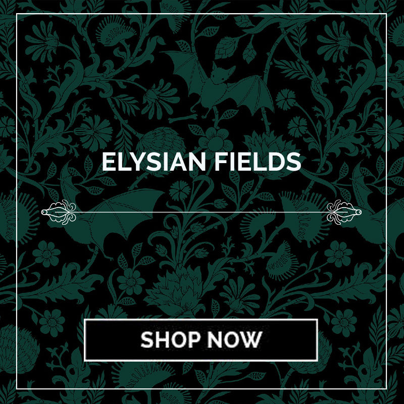 Elysian Fields Bat Botanical Bedding - Sin in Linen