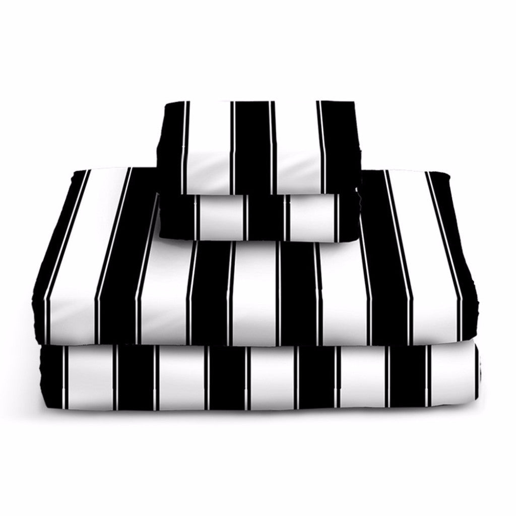 Black and White Striped Sheets