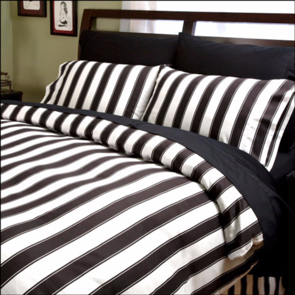 Black Amp White Striped Duvet Cover Glamorous Bedding