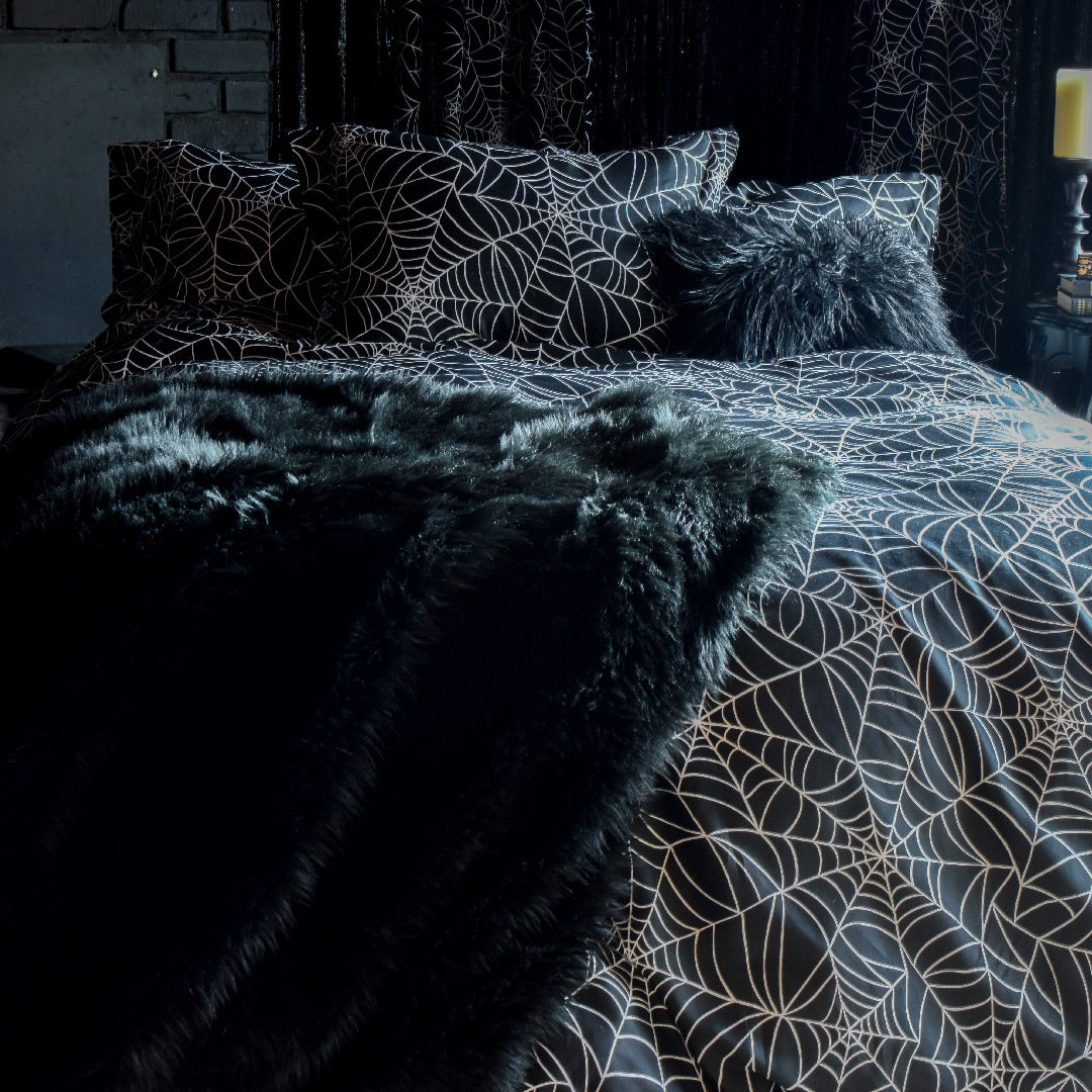 Spider Web Comforter Gothic Bedding By Sin In Linen