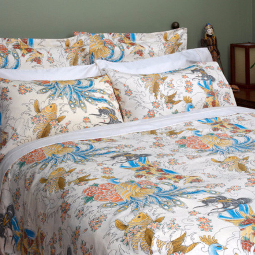 Tattoo Duvet Cover | Nature Bedding by Sin in Linen : tattoo quilt cover - Adamdwight.com