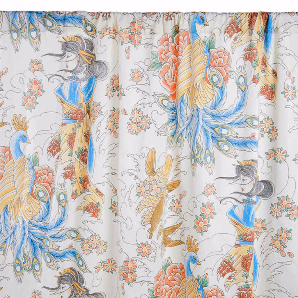 Geisha Garden Tattoo Curtains