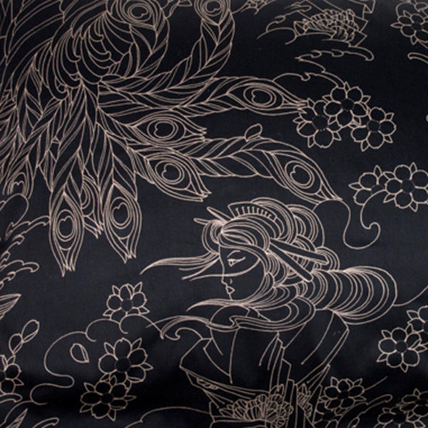 Geisha Moon Tattoo Pillow Cases and Shams