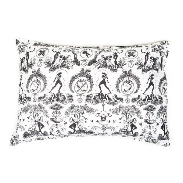 Fetish al Fresco Toile Pillow Cases by Sin in Linen