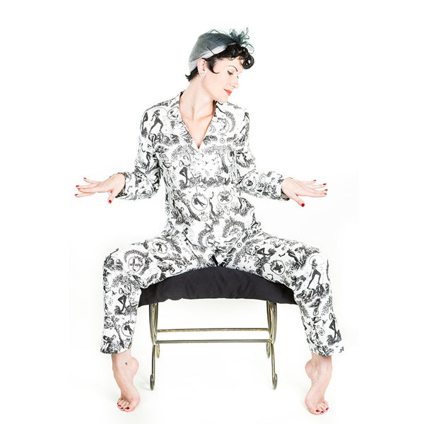 Fetish al Fresco Toile Pajamas by Sin in Linen