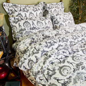 Naughty Toile Pillow Cases and Shams