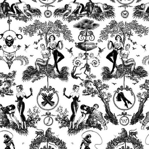 Naughty Toile Throw Blanket