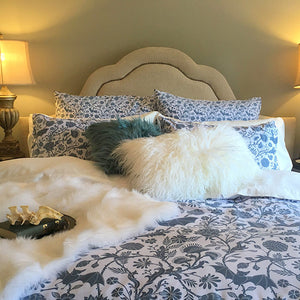 Elysian Fields Comforter - Blue Smoke by Sin in Linen