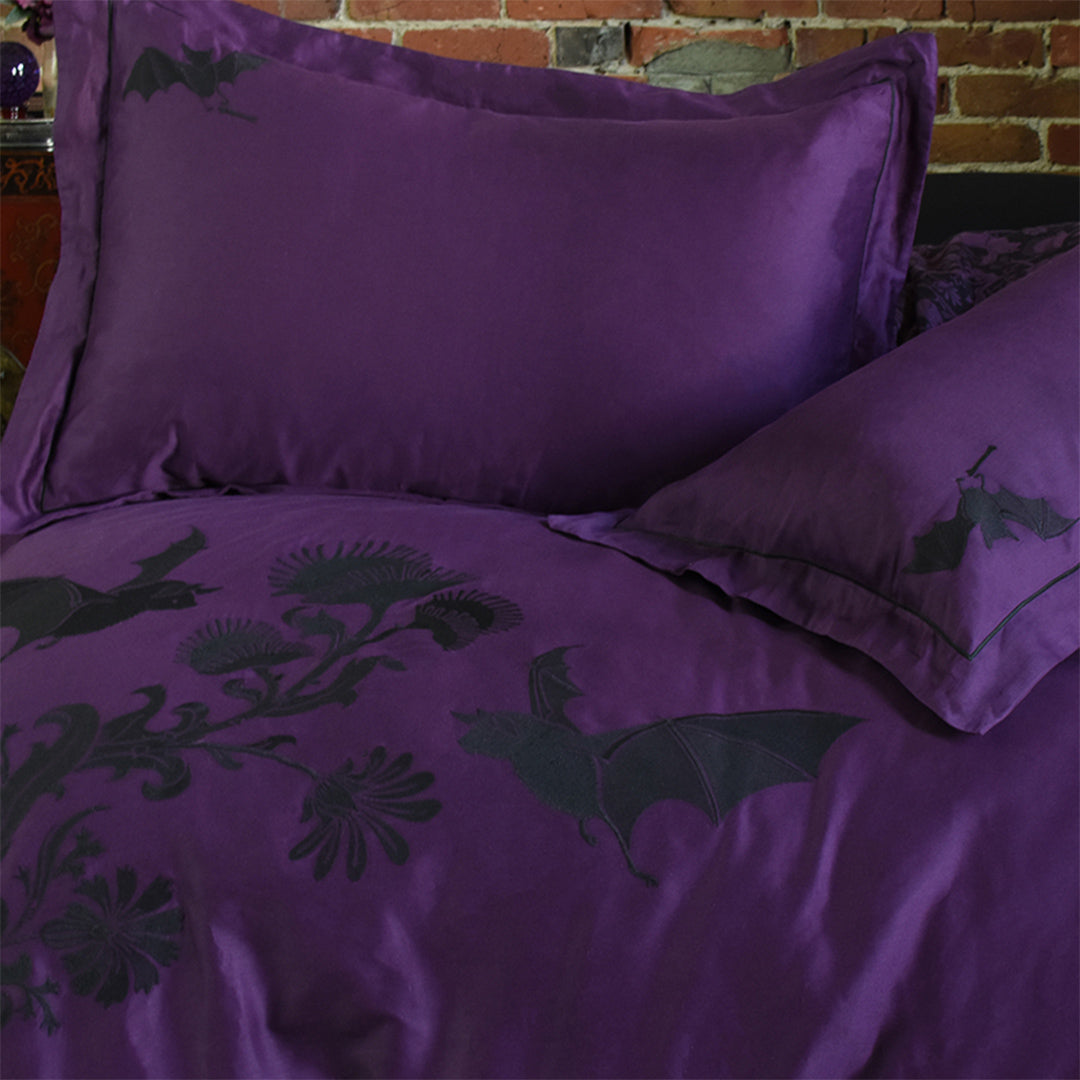 Night Flight Embroidery Duvet Cover