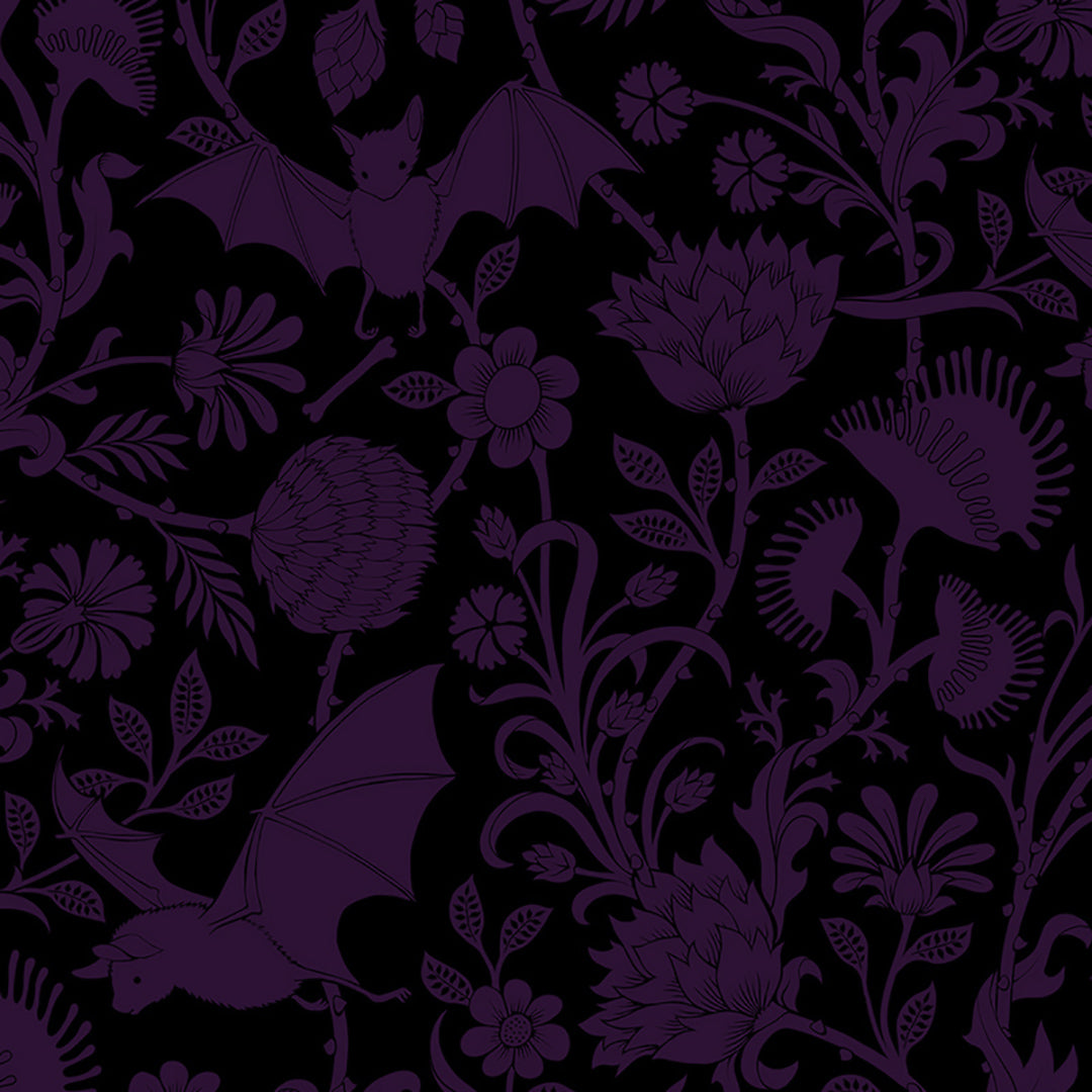 Elysian Fields Kitchen Linens - Purple
