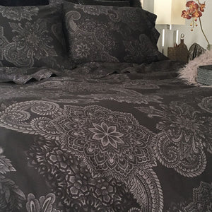 Midnight Ink Duvet Cover - by Sin in Linen