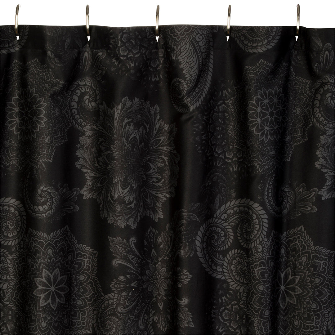 Midnight Ink Shower Curtain - by Sin in Linen