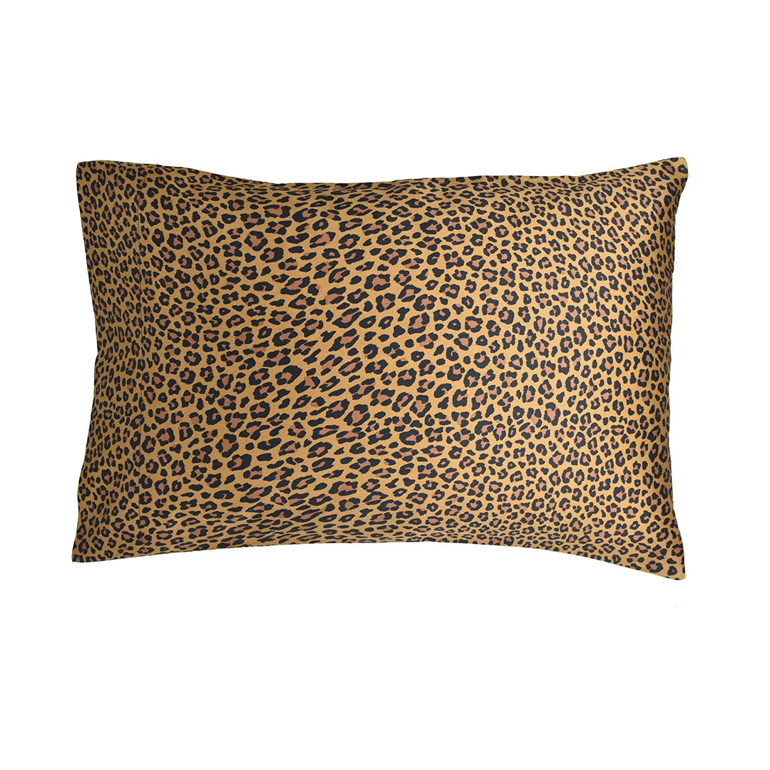 Wild Side Leopard Pillow Cases and Shams - Gold