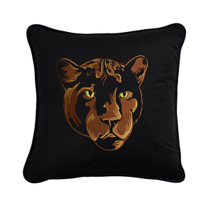 Velvet Leopard Throw Pillow - Gold