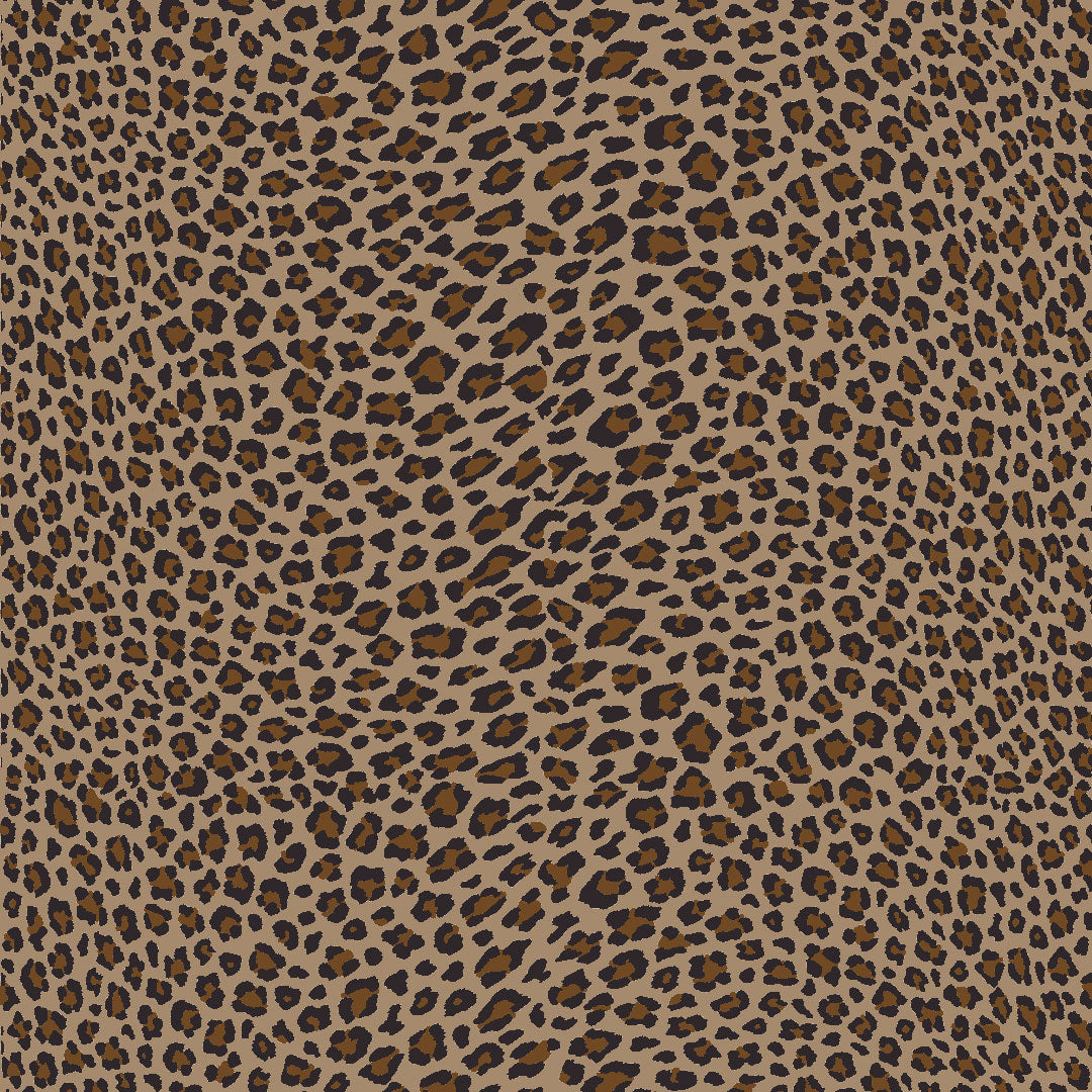 Wild Side Leopard Bed Skirt - Natural