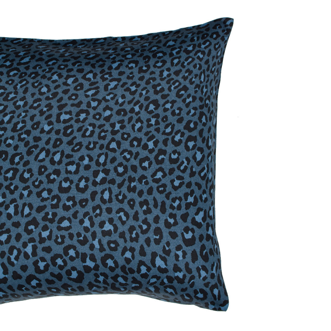 Wild Side Leopard Pillow Cases and Shams - Navy