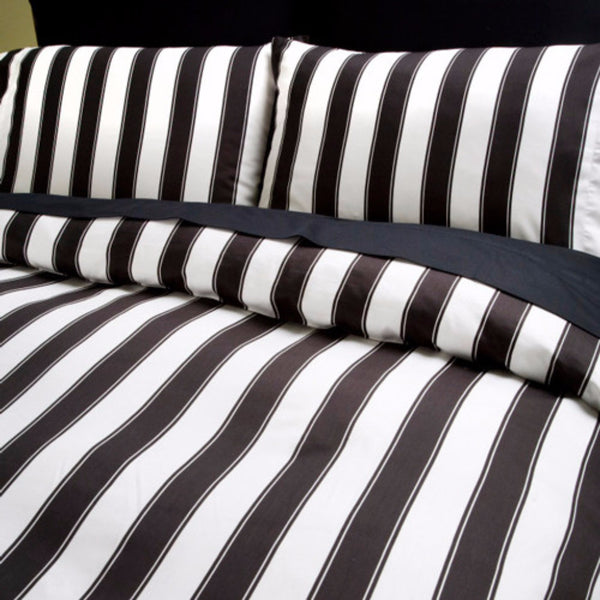 Black and White Striped Duvet Cover