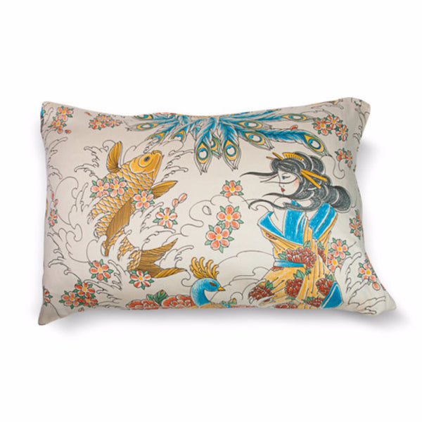Geisha Garden Tattoo Pillow Cases