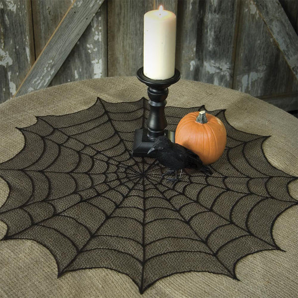 Spider Web Table Topper   Sin In Linen