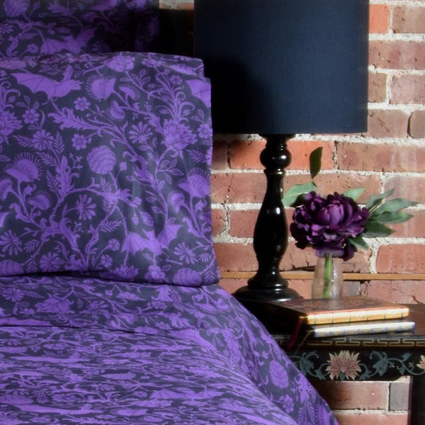 Elysian Fields Duvet Cover - Purple