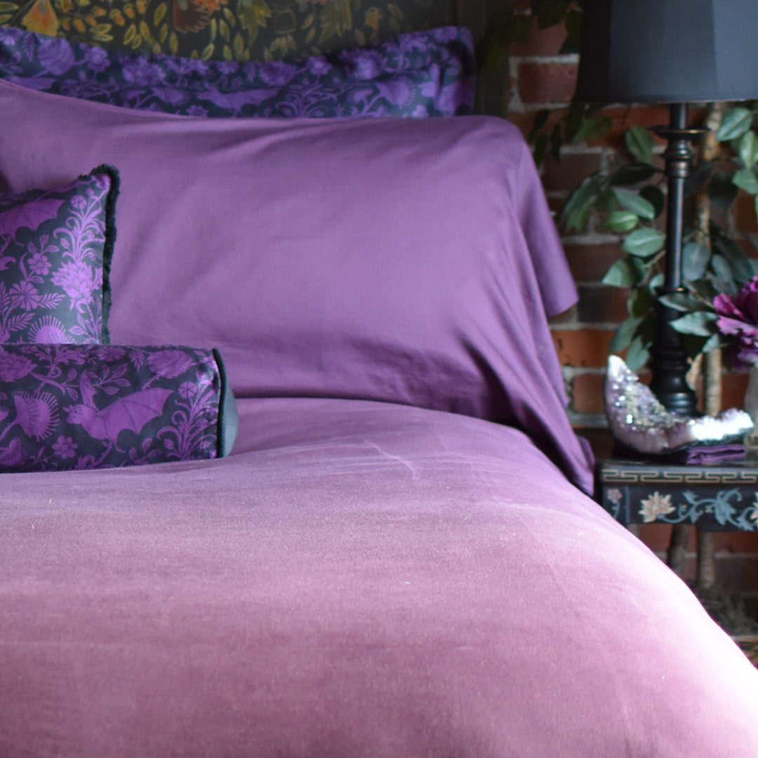 Plum Purple Duvet Cover