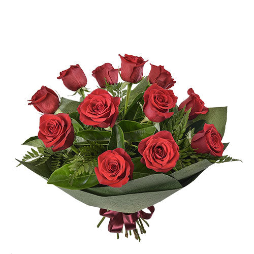 Temptation – Bouquet of 12 Long Stemmed Red Roses