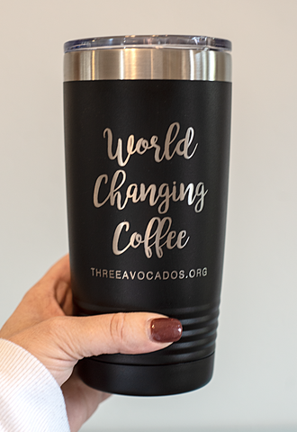 """World Changing Coffee"" Tumbler - Black"